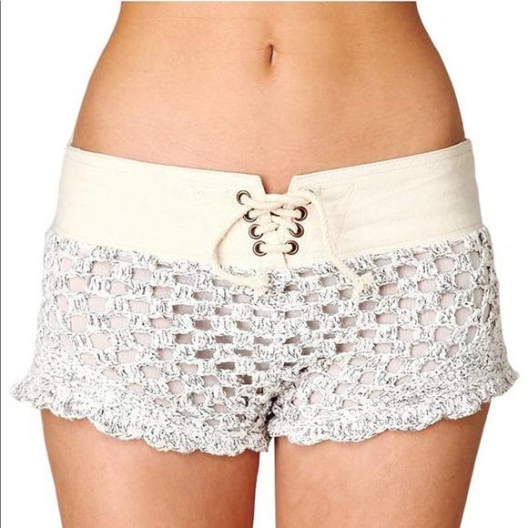 NWT Free People New Romantics Beach Cruiser Shorts Short White XS NEW